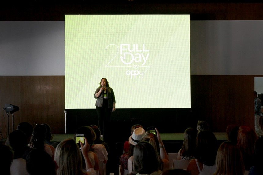 Gily Segovia, directora ejecutiva de Oppy Group durante la apertura el evento