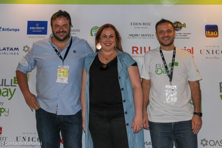 David Patiño de Special Tours con Gily Segovia y Gustavo Benitez
