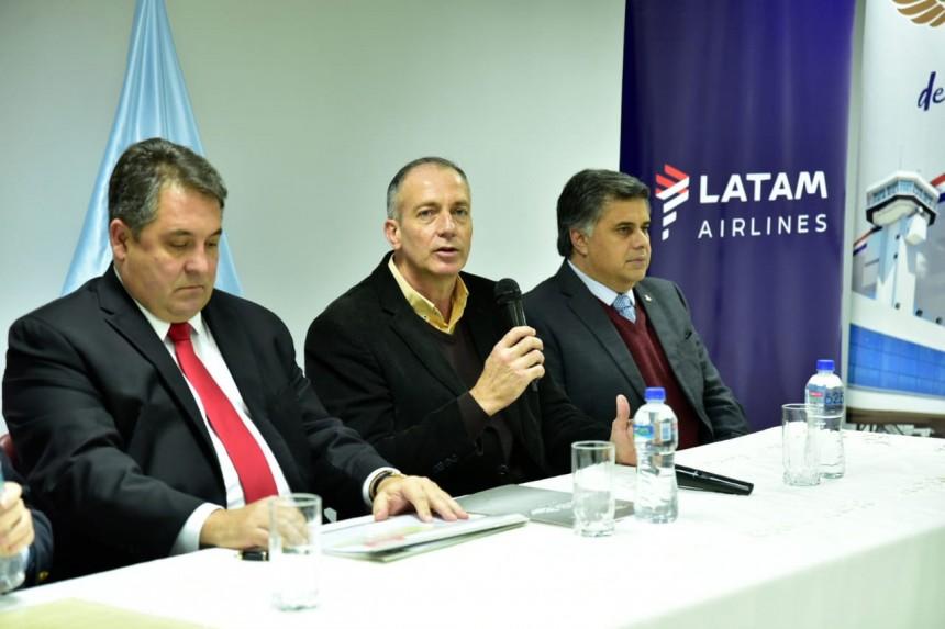 Romulo Campos, durante la conferencia de prensa