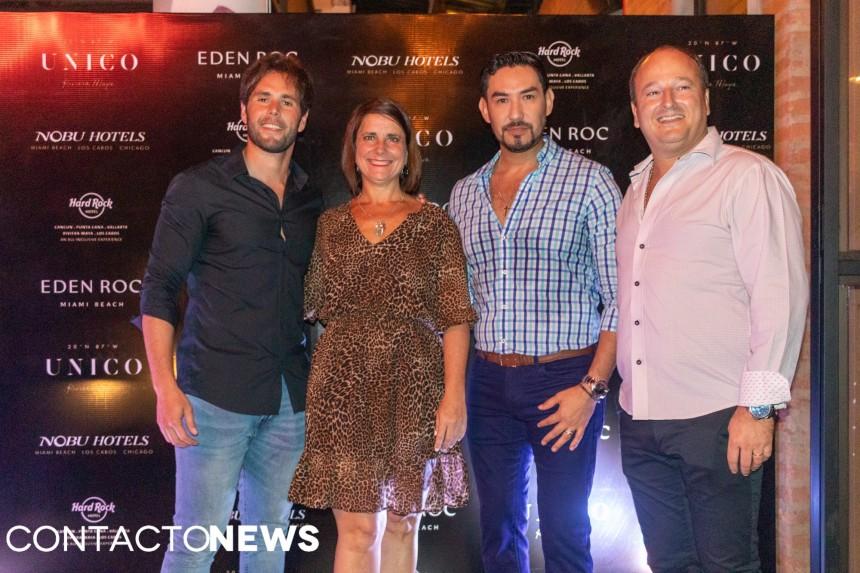 German Poletti, Josefina de Zan, Leonel Reyes y Mario Traverso