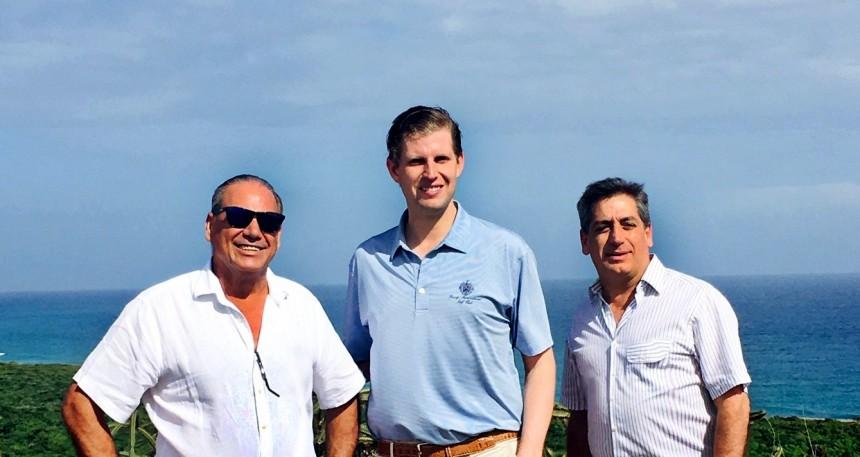 Eric Trump durante su visita a Republica Dominicana