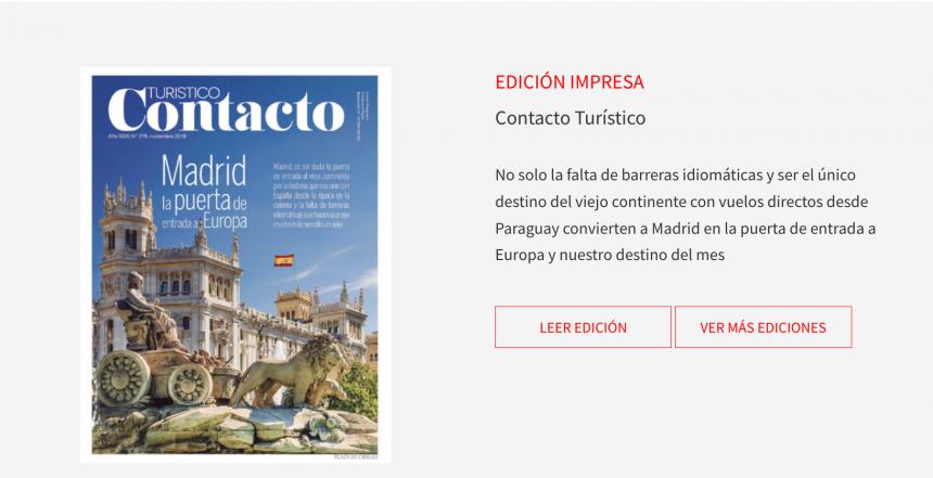 Lee la ultima edición de Contacto Turistico