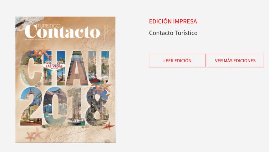 Contacto Turístico despide el 2018 con la mejor información