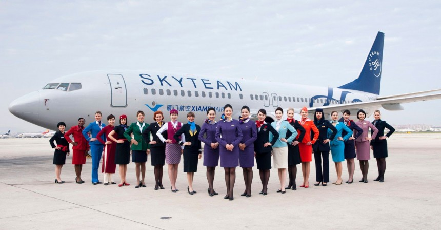 Aerolineas miembro de Skyteam