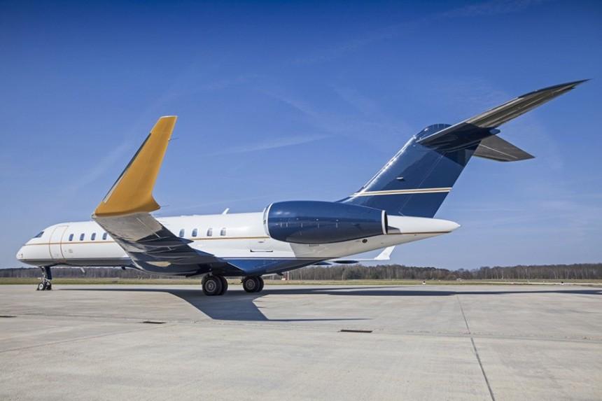 Sun King Diamond Coating en el Bombardier Global Express Executive jet