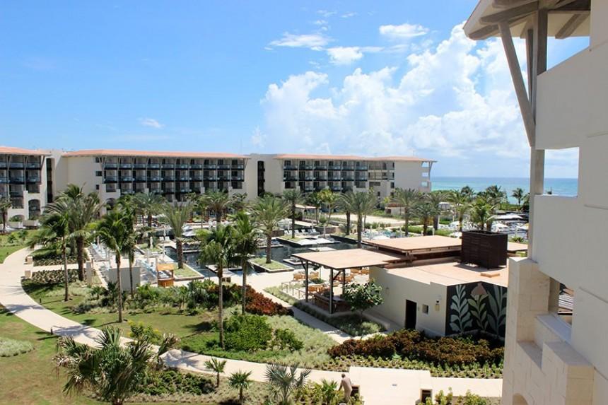 Vista desde una de las habitaciones del Unico 20°87° Hotel Riviera Maya