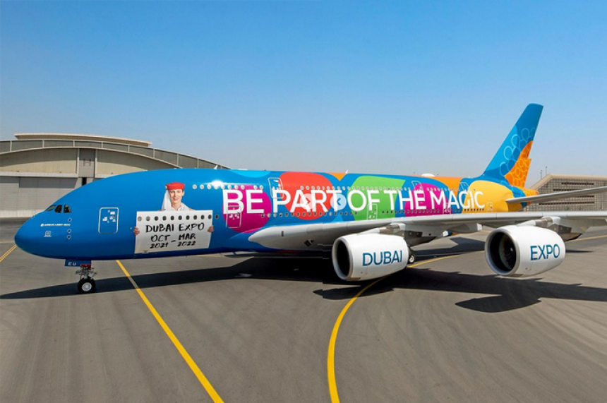 Emirates personaliza el A380 para celebrar la Expo Dubái 2020
