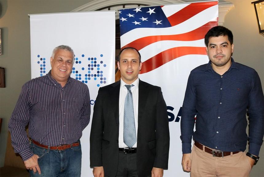 Alejandro Salza, Rocco Costo y Emilio Esquivel