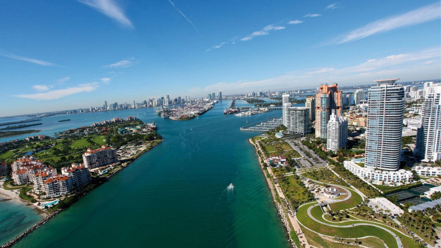 Vista Aerea de Miami