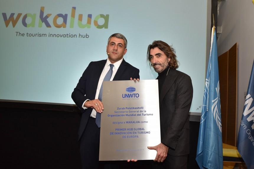 Zurab Pololikashvili, Secretario General de la OMT y Javier Hidalgo