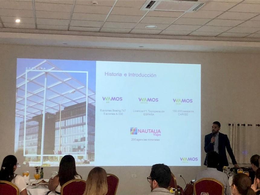 Nicolás Bortagaray, durante la presentación
