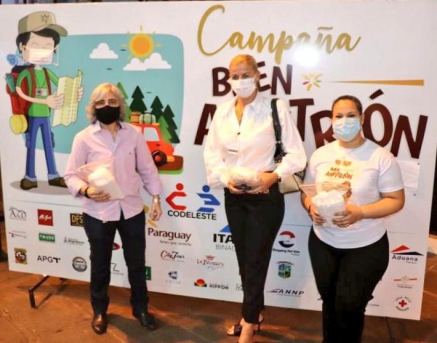 Senatur y su campaña buen Anfitrión presentes en apertura del Puente de la Amistad