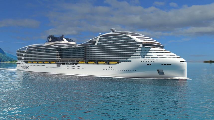 El MSC World Class se caracterizará por navíos de más de 200.000 toneladas