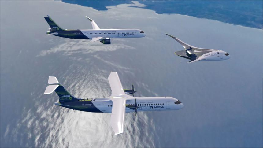 Airbus presentó el primer avión comercial de cero emisiones