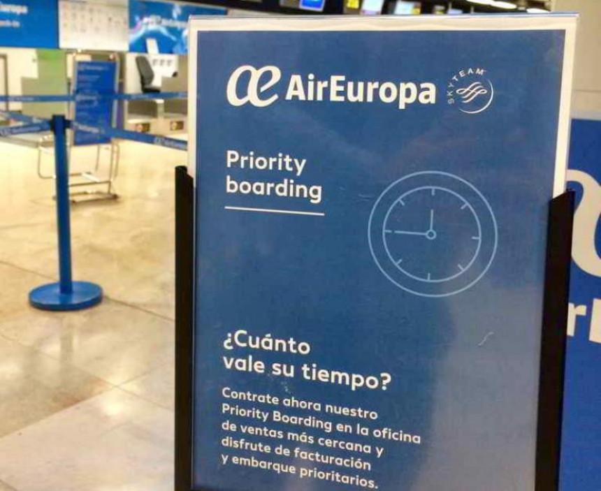 Air Europa incorpora servicio de embarque prioritario