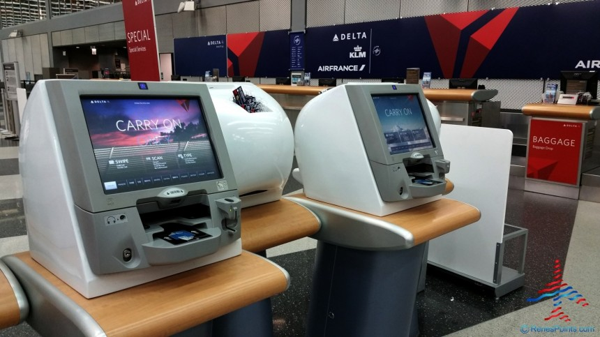 Selft Check In de Delta Airlines