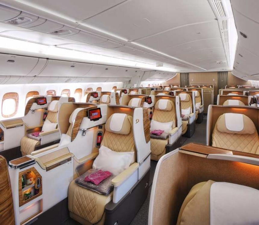 Nueva cabina Business de Emirates en sus Boeing 777-200LR