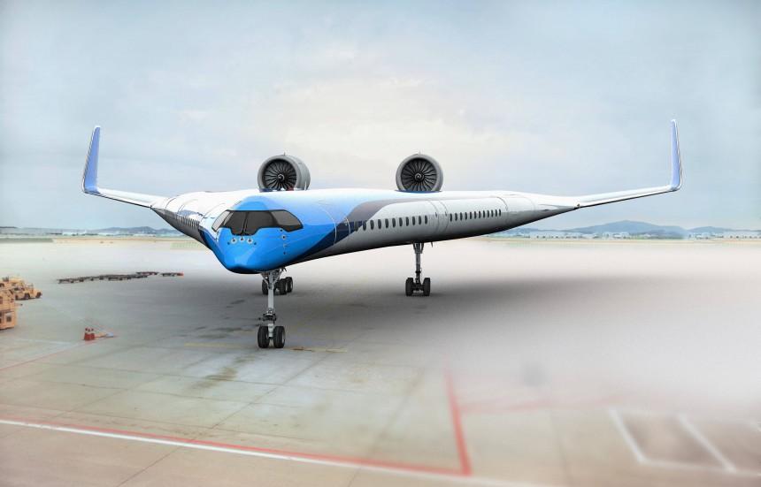KLM promueve avión sostenible con asientos en las alas