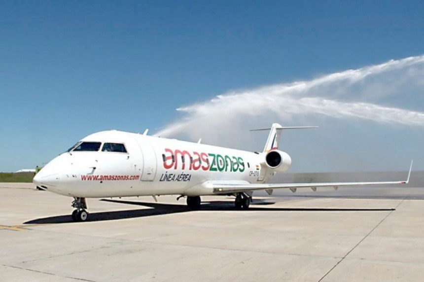 Avión de Amaszonas Linea Aerea