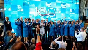 KLM celebró 100  años surcando los cielos del mundo