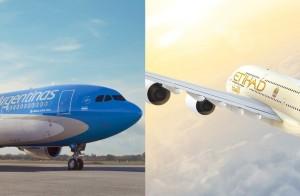 Aerolíneas Argentinas y Etihad Airways con acuerdo de código compartido