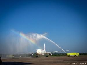 Air Europa cumple tres años conectando a Asunción con Madrid
