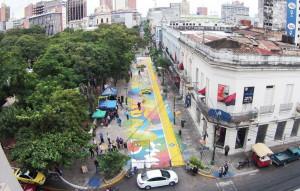 Equipo interinstitucional trabaja en la reactivación de Calle Palma en Asunción