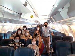 Agentes de viajes conocieron de cerca al avión de Eastern