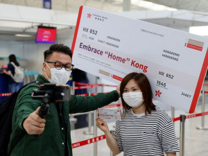 Embrace Home Kong con el vuelo HX852 de Hong Kong Airlines
