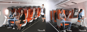 Presentan nuevos prototipos de asientos de aviones ante COVID-19