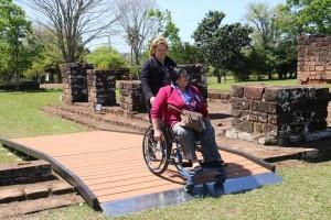 Rampas inclusivas en la Misión de Jesús de Tavarangué