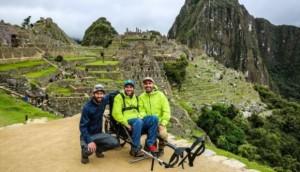 Recorriendo Machu Picchu en silla de ruedas