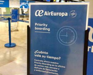 """Air Europa amplía """"Priority Boarding"""" en  aeropuertos internacionales"""