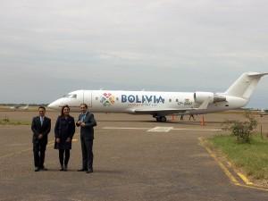 Amaszonas surca los cielos con la marca país de Bolivia