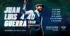 Juan Luis Guerra dará una serie de conciertos en el Hard Rock Hotel Punta Cana